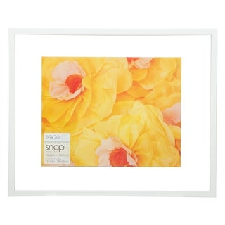 16x20 Float 11x14 White Picture Frame