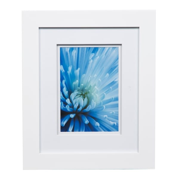 Shop Gallery 8x10 Wide White Double Mat To 5x7 Picture Frame Free