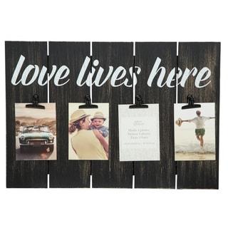 12x18 love lives here blackwashed 4 clip picture frame