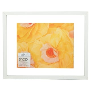 11x14 Float 8x10 White Picture Frame