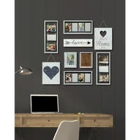 9 Piece Heart Decor White Collage Kit Picture Frame