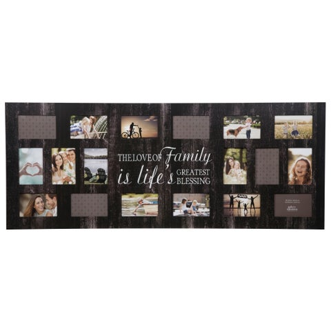 """18 Opening """"Family"""" Black Collage Picture Frame"""