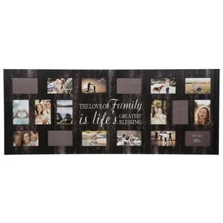 "18 Opening ""Family"" Black Collage Picture Frame"