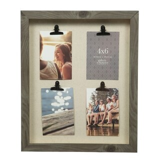 14x18 Charcoal 4 Clip Collage Picture Frame