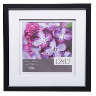 12x12 Gallery Double Mat to 8x8 Black Picture Frame