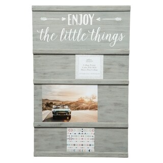 Little Things Graywash Sliding Collage Picture Frame