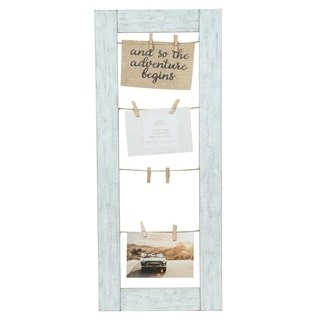 11x26 Collage Whitewash Clip Picture Frame