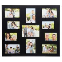 11 Opening Collage Black Picture Frame