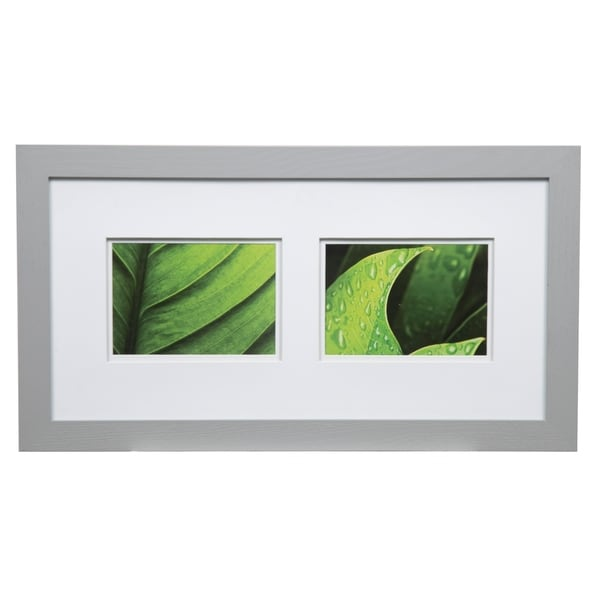 Gallery 10x20 Wide Grey Double Mat to 2-5x7 Picture Frame