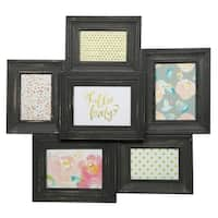 6 Opening Collage Black Picture Frame