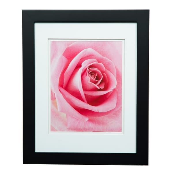 Gallery 11x14 Wide Black Double Mat to 8x10 Picture Frame 30249992