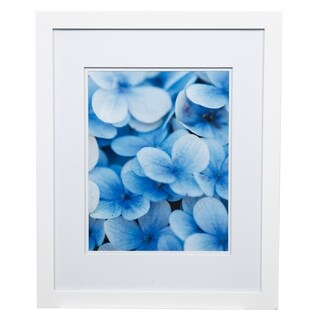 Gallery 16x20 Wide White Double Mat to 11x14 Picture Frame