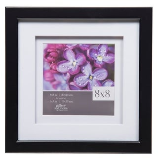 8x8 Gallery Double Mat to 5x5 Black Picture Frame