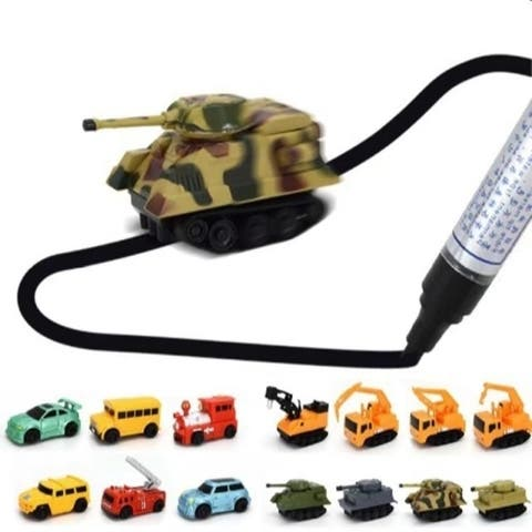 MINI Magic Pen Inductive Fangle Vechicle Children's CAR Truck Tank Toy Car Random Style/Color