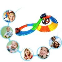 240pcs Magic Tracks The Amazing Racetrack That Can Bend, Flex, and Glow! Christmas Gift Kids Toy