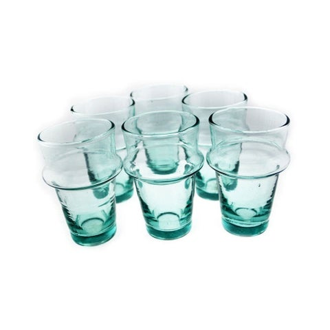Kasbah Tea Glasses, Clear, Set of 6, (4.7 Inches).