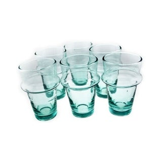 Kasbah Tea Glasses, Clear, Set of 12, (2.75 Inches).
