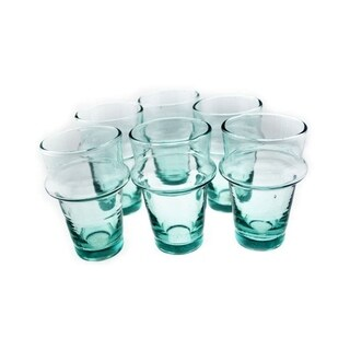 Kasbah Tea Glasses, Clear, Set of 6, (5.1 Inches).