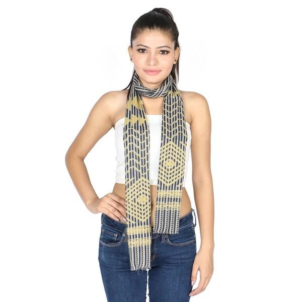 Women Ladies Metallic Chevron Zigzag Gold Button Sleeveless Fashion Party Top