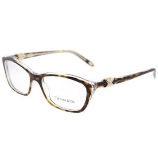 Tiffany & Co. Cat Eye TF 2074 8155 Womens Top Black on Blue Frame Eyeglasses