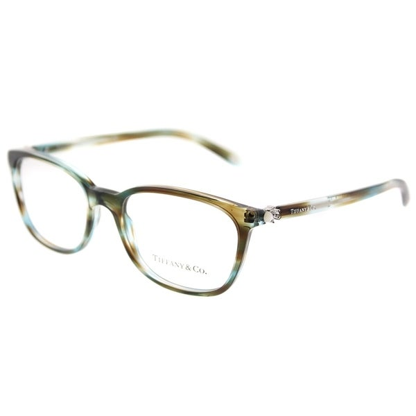 Shop Tiffany & Co. Square TF 2109H 8124 Womens Ocean Tortoise Frame ...