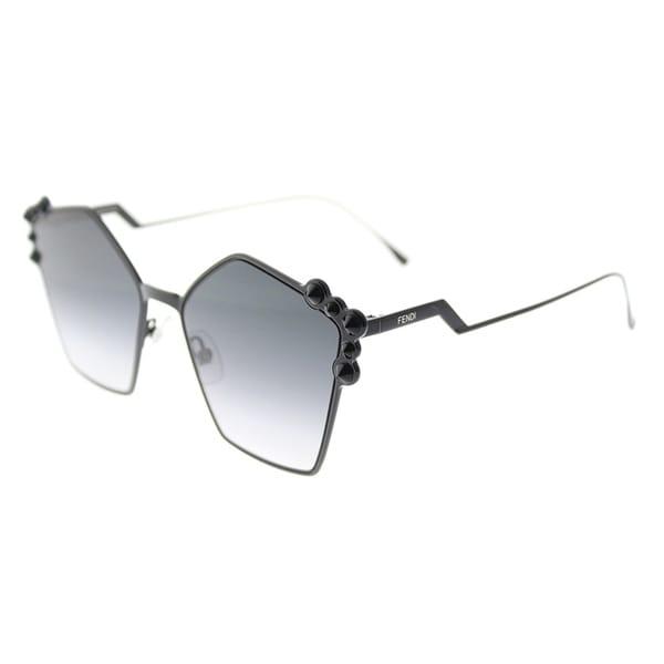 657a3929f473 Fendi Fashion FF 0261 2O5 Womens Black Frame Dark Grey Gradient Lens  Sunglasses