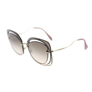 Miu Miu Fashion MU 54SS DHOAD5 Womens Brown Frame Silver Mirror Lens Sunglasses