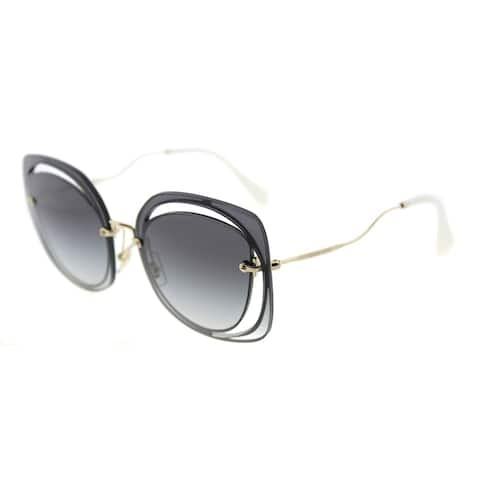 fb958996f6e9 Miu Miu Fashion MU 54SS UE65D1 Womens Blu Frame Grey Gradient Lens  Sunglasses