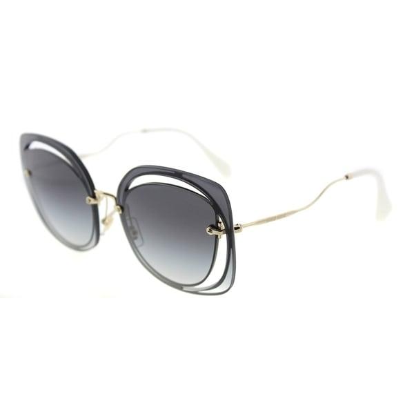 d4736e8889b5 Miu Miu Fashion MU 54SS UE65D1 Womens Blu Frame Grey Gradient Lens  Sunglasses