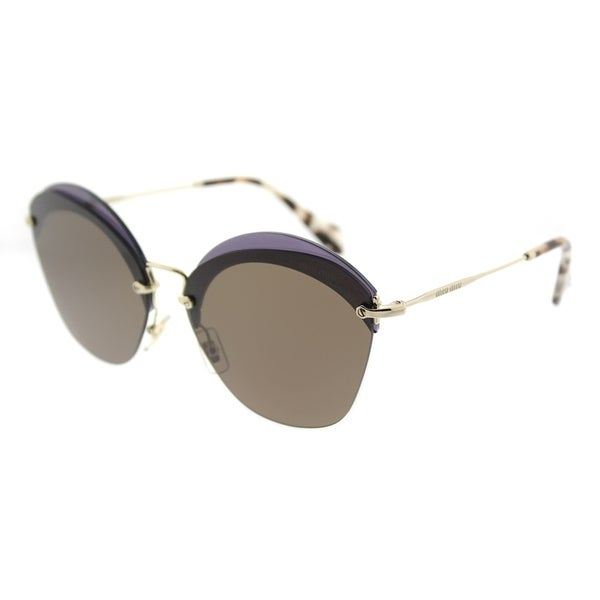 979af04ce56a Miu Miu Fashion MU 53SS VX29L1 Womens Transparent Violet Frame Brown Lens  Sunglasses