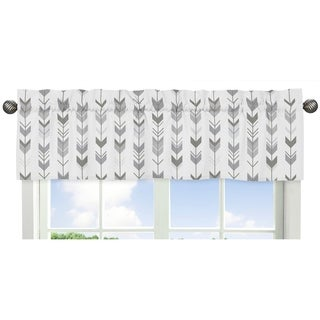 Sweet Jojo Designs Window Valance for the Grey and White Mod Arrow Collection