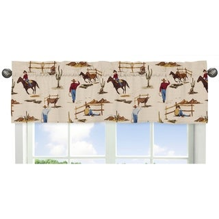 Sweet Jojo Designs Cowboy Print Window Valance for the Wild West Collection