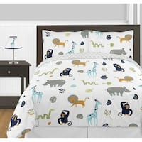 Sweet Jojo Designs Mod Jungle Collection 3-piece Full/Queen Comforter Set
