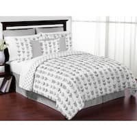 Sweet Jojo Designs Grey and White Mod Arrow Collection 3-piece Full/Queen Comforter Set