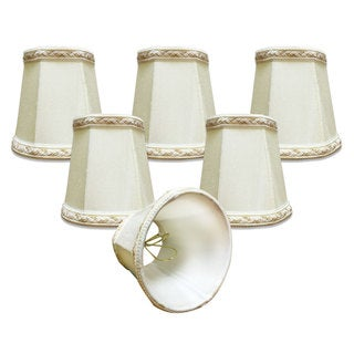"Royal Designs 4"" Deep Empire Chandelier Lamp Shade Eggshell"