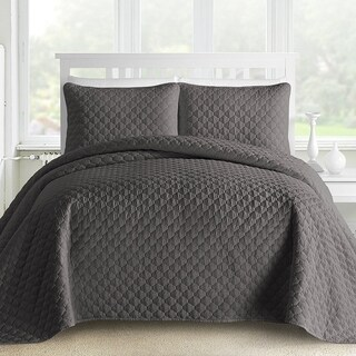 Kotter Home Ogee 3-Piece Oversized Quilt / Coverlet Set