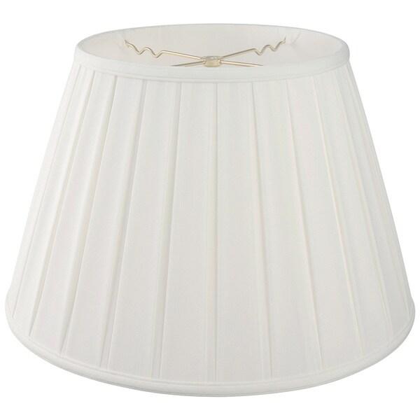 Royal Designs Empire English Pleat Basic Lamp Shade - White - 11 x 18 x 12