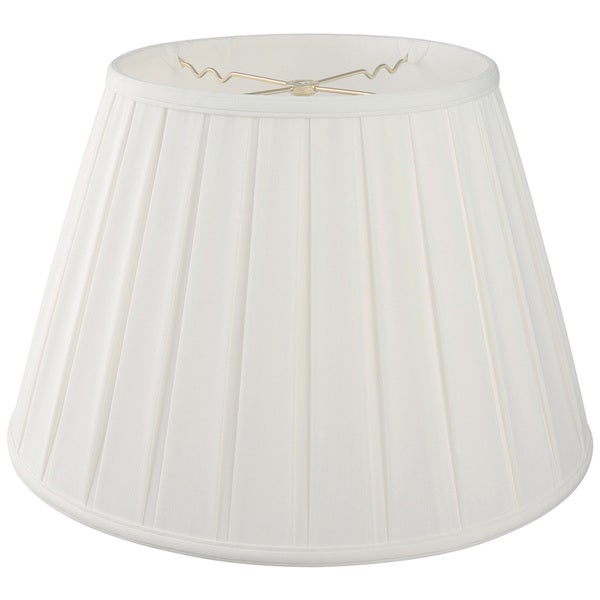Royal Designs Empire English Pleat Basic Lamp Shade - White - 10.5 x 16 x 11