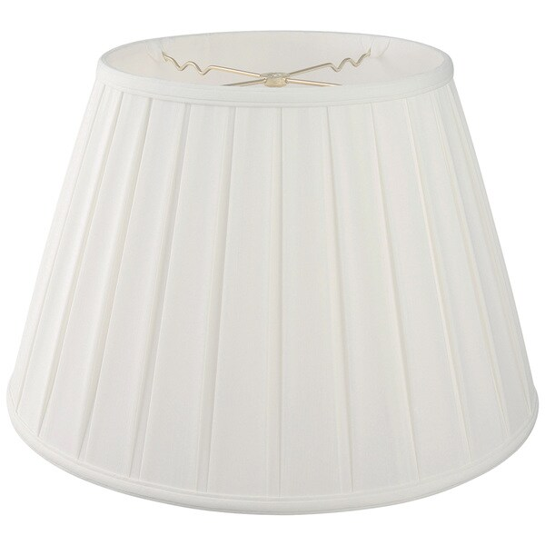 Royal Designs Empire English Pleat Basic Lamp Shade - White - 10 x 14.5 x 10