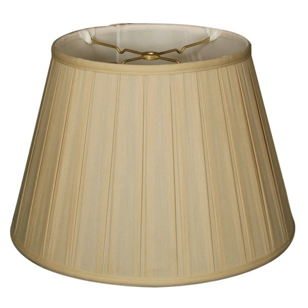 Royal Designs Empire English Pleat Basic Lamp Shade - Beige - 10 x 14.5 x 10