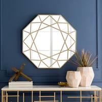 """Hypatia Gold Framed 31.5"""" x 31.5"""" Wall Mirror"""