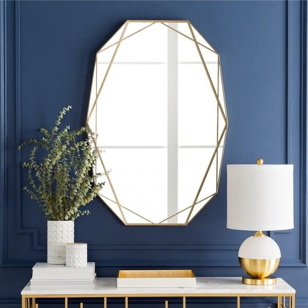 """Soheila Gold Framed 27.5"""" x 39"""" Wall Mirror"""
