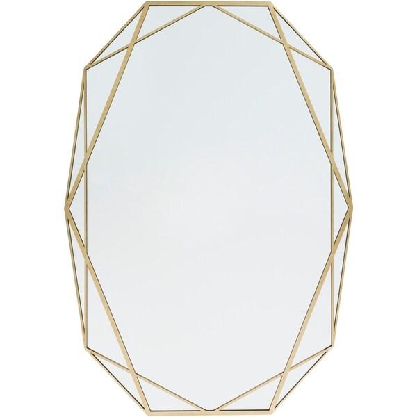 Soheila Framed Goldtone 27.5-inch x 39-inch Oval Wall Mirror