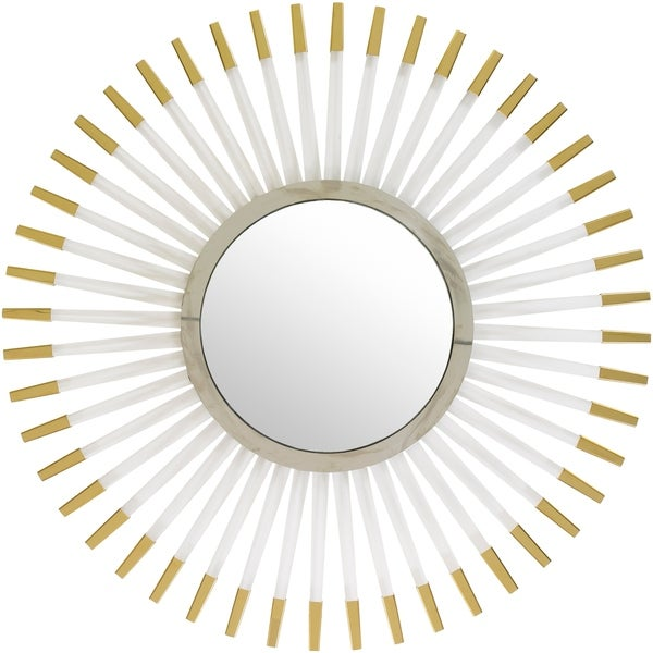 """Gedeon Gold Framed 39"""" x 39"""" Beveled Wall Mirror - 39.4"""" x 39.4"""". Opens flyout."""
