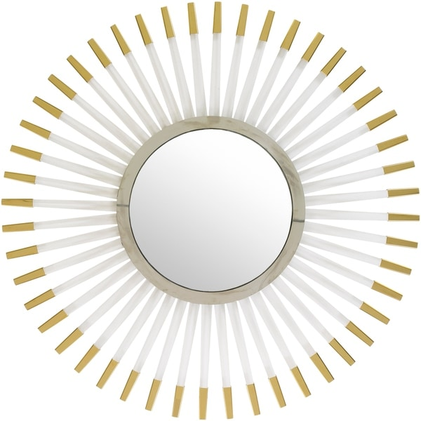 "Gedeon Gold Framed 39"" x 39"" Beveled Wall Mirror"