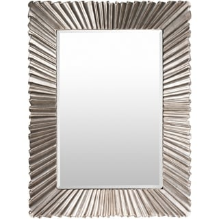 """Citra Silver Gilded Framed 36"""" x 49"""" Beveled Wall Mirror - 36.2"""" x 48.8"""""""