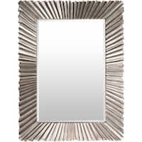 "Citra Silver Gilded Framed 36"" x 49"" Beveled Wall Mirror"