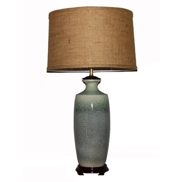Crown Lighting 1-light Green/Blue Porcelain Table Lamp