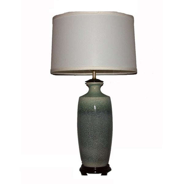 Crown Lighting 1-light Green/Blue Porcelain Table Lamp