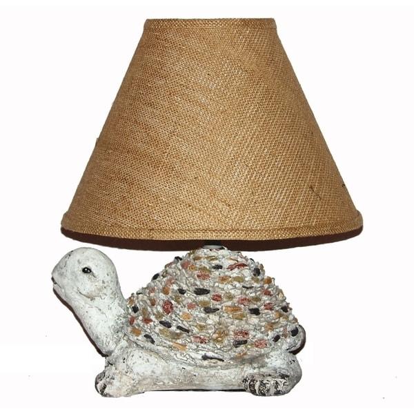 Crown Lighting 1-light Ceramic Turtle Table Lamp